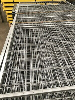 Welded Wire Mesh Panels 2.2m X 1.2m  Steel Sheet Metal 4  X 2  Bolt Together • 12£