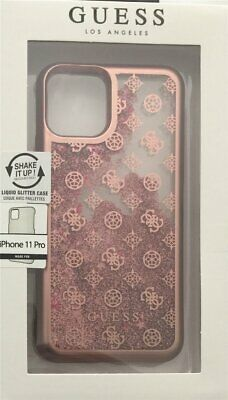 Guess 4G Peony Liquid Glitter Hard Case IPHONE 11 Pro Pink Rosè Cover • 21.50£