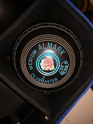 4 Almark Clubmaster Lawn Bowls,Size 2 Lightweight And Carry Case Good Condition • 30£