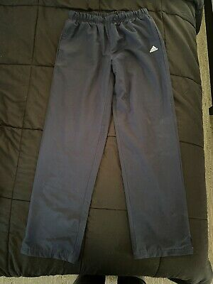 AU17.99 • Buy Adidas Pants Size 12 Womens Running Navy Blue Ladies Lightweight Trackpants