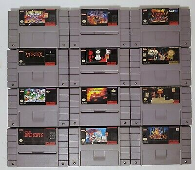$ CDN65.90 • Buy Super Nintendo Lot Of 12 SNES Games All Tested & Work FREE SHIPPING