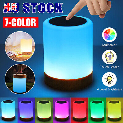 AU27.95 • Buy Touch LED Night Light Bedside Desk Lamp Table Mood USB Dimmable Rechargeable OZ