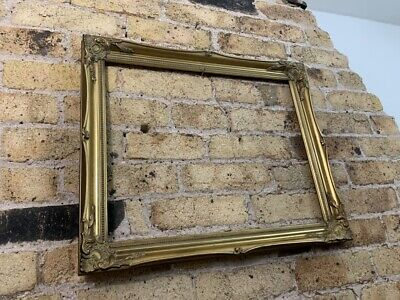 Rococo Baroque Gold Gilt & Gesso Detail Wooden Picture Frame, Medium To Large • 32£
