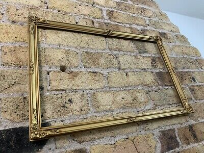 Rococo Baroque Gold Gilt & Gesso Detail Vintage Picture Frame, Small To Medium • 26£