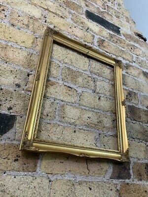 Rococo Baroque Gold Gilt & Gesso Detail Vintage Picture Frame, Small To Medium • 16£