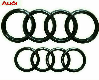 Audi Gloss Black Front Rear Grille Bonnet Badge Rings Q3 - Q7 A6 RS6 285mm 216mm • 13.98£