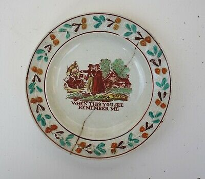 EARLY STAFFORDSHIRE PEARLWARE CHILDS PLATE Creamware C.1810 • 10£
