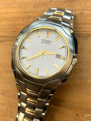 £100 • Buy Excellent Men's Citizen Eco Drive E111-S022240, Stainless Steel/Gold Plate.