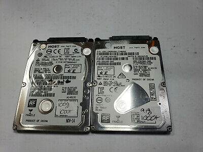 $ CDN43.87 • Buy Lot Of 2 HGST 500GB Laptop Hard Drive HTS545050A7E680 TESTED FAST SHIP OUT