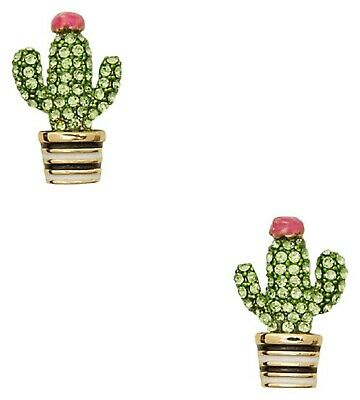 $ CDN33.27 • Buy Kate Spade Green/Multi-color Scenic Route Pave Cactus Earrings