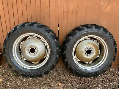 Massey Ferguson 35 T20 135 Ford Tractor Goodyear Sure Grip Wheels Tyres  12-4-28 • 725£