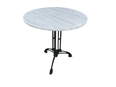 AU489 • Buy Elegant Marble Top Table Round 70cm Cast Iron Base DELIVERED ** RRP $589