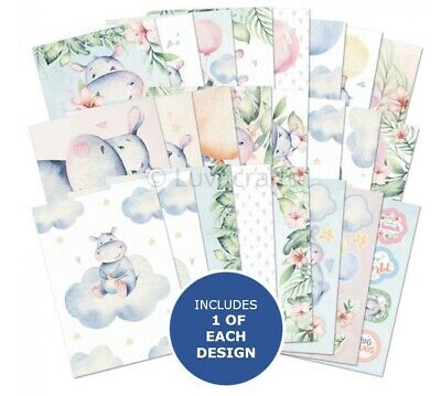 Hunkydory The Little Book Of Happy Hippos Sample Pack 24 Sheets X A6 150gsm • 2.99£