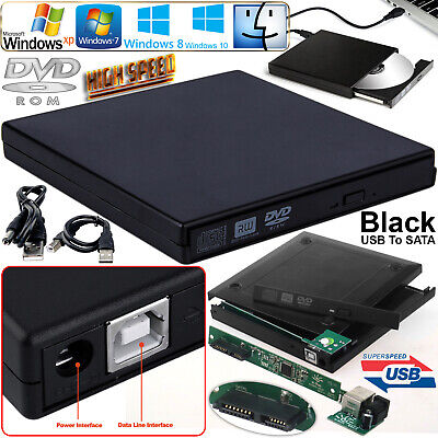 Laptop USB To SATA CD DVD Combo RW Rom External Drive Case Cover Caddy Enclosure • 6.89£
