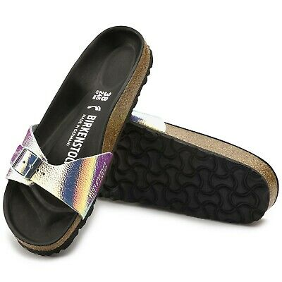 Birkenstock Womens Leather Madrid Pearls Narrow Fit Sandals 1003849 RRP £105 AS8 • 30£