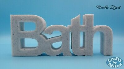 £12.99 • Buy  Bath  Word Ornament In Arial Font - 9x22x2cm - Various Colours