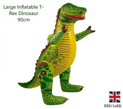 2 X Large Inflatable Blow Up 90CM T-Rex Dinosaur Toy Dino Party Decor Kids UK • 4.70£