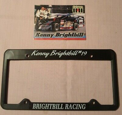 $ CDN8.74 • Buy Kenny Brightbill #19 Late Model Stock Car Racing License Plate Frame And Photo