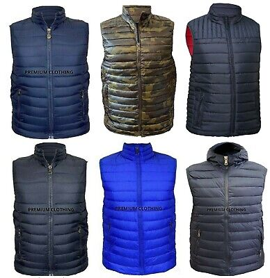Mens Sleeveless MM GILET Body Warmer Puffer Quilted Padded Bomber Jackets Gilets • 16.99£