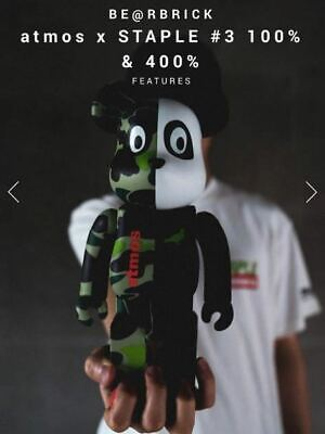 $260.08 • Buy Medicom Toy BE@RBRICK Bearbrick Atmos X STAPLE #3 100% & 400% Japan Limited FS