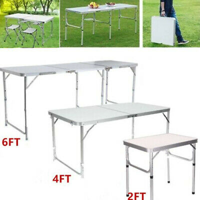2/4/6FT Heavy Duty Folding Trestle Table Protable Camping Garden Party Catering • 29.99£