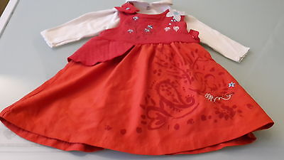 Set Girl Dress Marese Top Collar Clayeux 3 Month Very Good Condition • 28.80£