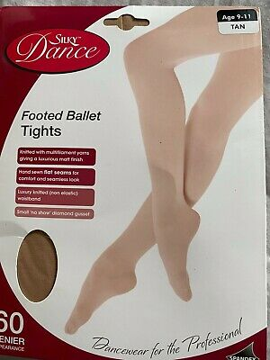 £3.49 • Buy Girls Professional 60 Denier  Footed Ballet/Dance Tights - TAN - Age 9-11 - NEW