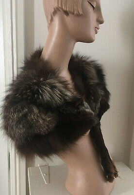Stunning 1930 Silver Fox Real Fur Stole Boa Flapper Original Antique Vintage • 49£