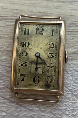 1920's Jumbo Size *9ct Gold* Curvex Watch, 150MN Movement George Stockwell Case! • 450£