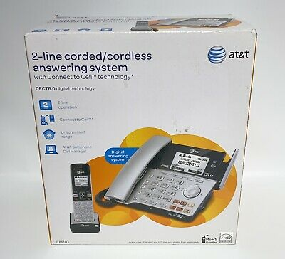 $ CDN118.62 • Buy ATT 2 Line DECT 6.0 Cordless Corded Phone Combo TL86103 With Connect To Cell NEW