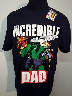 Marvel Incredible Dad T Shirt Navy Xl In Gift Box • 7.99£