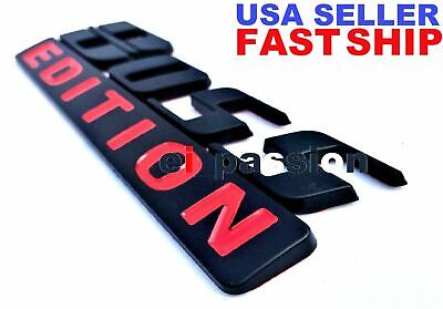 $21.99 • Buy BOSS EDITION Black Fit All Cars Trucks Logo Tailgate Back Bumper CUSTOM EMBLEM