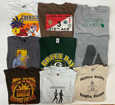 $ CDN65.90 • Buy Wholesale Lot Of 20 Vtg Retro Graphic T Shirts Large Size 90s & 00s Tees Resale