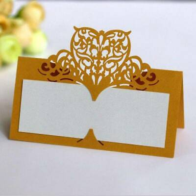Hollow Laser Cut Lace Seat Card Table Number Name Card Wedding Place Cards LH • 5.33£