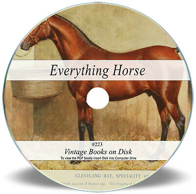 Rare Horse Training Riding Books On DVD- Schooling Behaviour Farrier Shoeing 223 • 3.90£