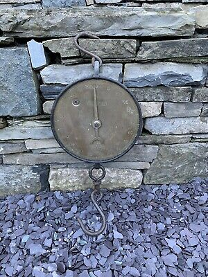 Antique Early 20thC Salter's No 20T Brass And Cast Iron Butchers Scales -Hanging • 20£
