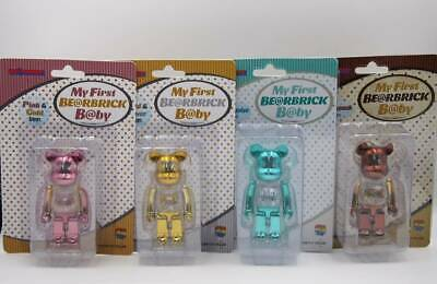 $942 • Buy Bearbrick Be Rbrick My First B By Gold / Silver Pink Turquoise Steampunk 100 JP