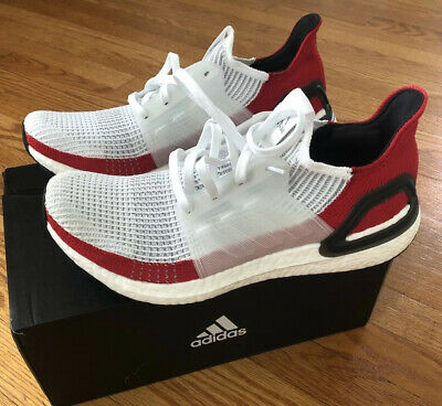 $ CDN79.09 • Buy Adidas Ultra Boost 19 Men Size 9 White And Red New