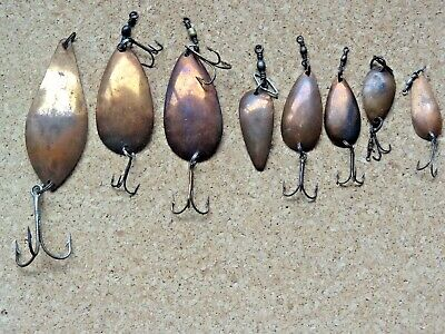 $ CDN19.99 • Buy Vintage Ftrout Fishing Lures Copper Spoons Collection Of 8 England U.S.A.