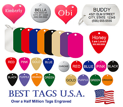$2.79 • Buy Dog Tags Personalized Dog Cat Pet ID FREE Engraving >>>>TAGS $2.39 Shipped!!