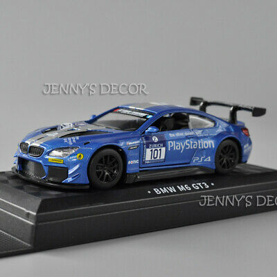 $9.50 • Buy 1:43 Scale Diecast Car Model Toys BMW M6 GT3 Pull Back Miniature Replica