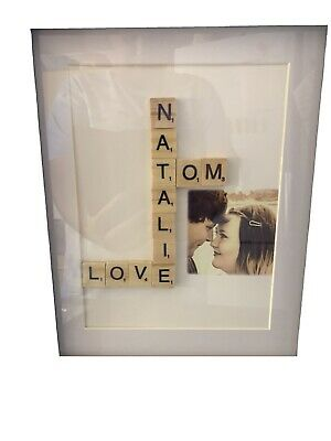 Beautiful Handmade Personalised Scrabble Pictures-Engagement, Wedding, Xmas • 22£
