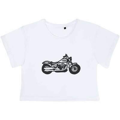 'Motorcycle' Women's Cotton Crop Tops (CO026555) • 13.99£