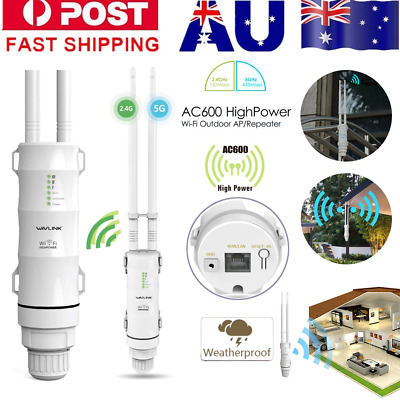 AU78.69 • Buy 2.4/5Ghz 600Mbps High Power Outdoor WIFI Router Repeater Extender Signal Booster