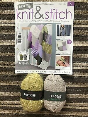 Eaglemoss Bergere De France Knit & Stitch Issue 5 New Yarn Included • 0.99£