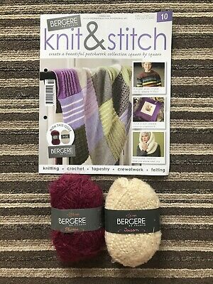 Eaglemoss Bergere De France Knit & Stitch Issue 10 Yarn Included New • 0.99£