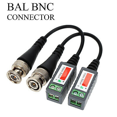 CCTV Camera Passive Video Balun BNC Connector Coaxial Cable Adapters UK • 3.33£