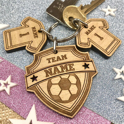 Personalised Birthday Gift For Him Football Keyring Dad Daddy Papa Pops Grandad  • 5£