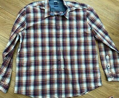 ATLANTIC BAY At BHS Lng Sleeved Checked Cotton Shirt Size XXL • 1.99£
