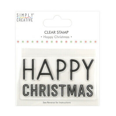 Happy Christmas - Large Clear Stamp - Simply Creative - Christmas • 1.50£